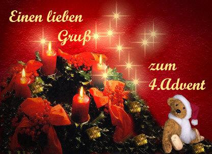 Vierte Advent Grüße