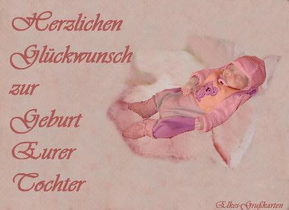 Herzlichen Glückwunsch Zur Geburt Eurer Tochter